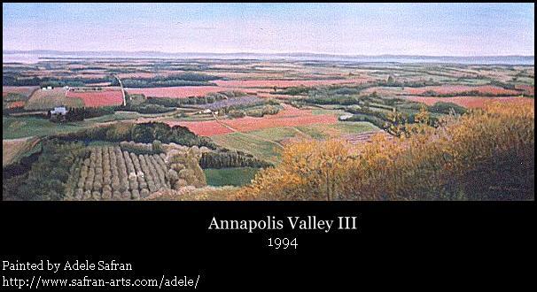 Adele Safran Paintings: Annapolis Valley III