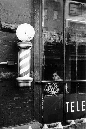 Woman and Barber Pole