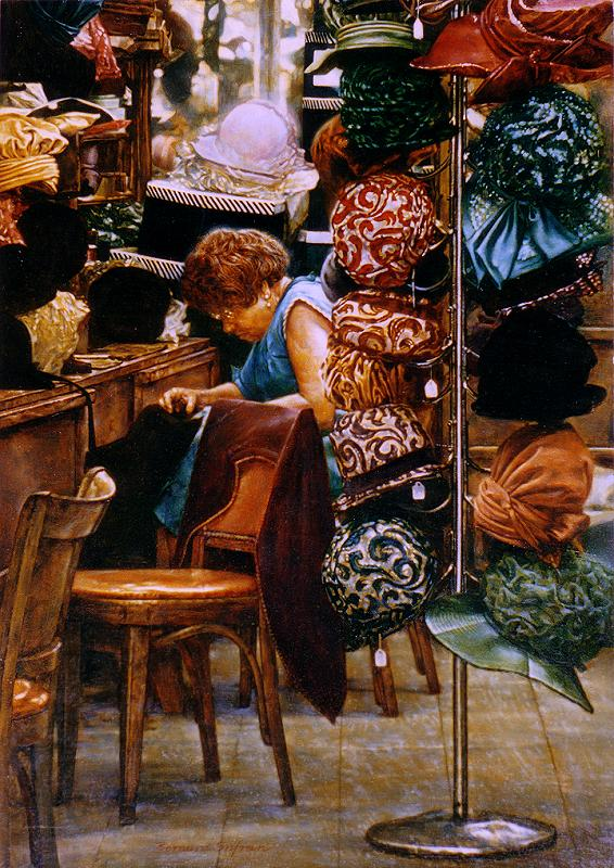 New York City Paintings  The Hat Maker b0faad4af6f9