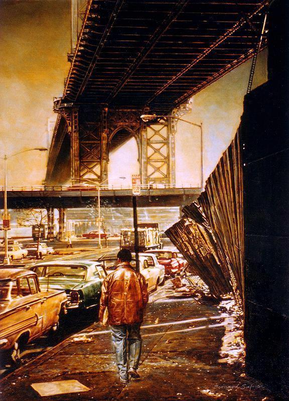 New York Painting Bridge New York City Painting...