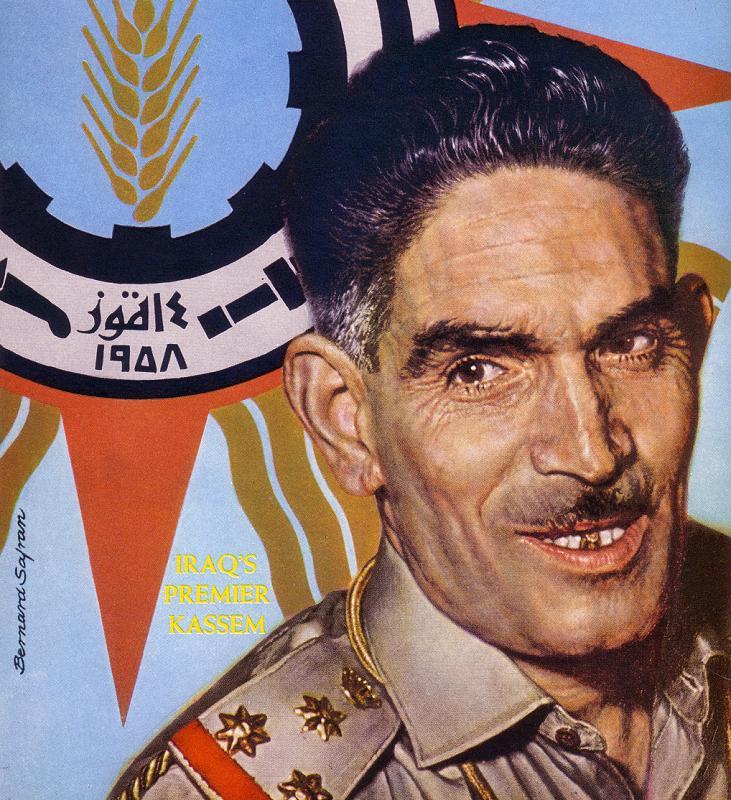 <b>Abdul Karim</b> Kassem, Prime Minister of Iraq 1958-1963 - picture-Abdul-Karim-Kassem